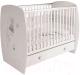 Детская кроватка Polini Kids French 710 Amis с ящиком (белый) -