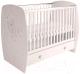 Детская кроватка Polini Kids French 710 Teddy с ящиком (белый) -
