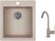 Мойка кухонная Granula GR-4201 + смеситель 35-05 (антик) -