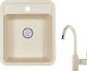 Мойка кухонная Granula GR-4202 + смеситель 35-05 (брют) -