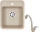 Мойка кухонная Granula GR-4202 + смеситель 40-03 (классик) -