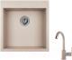 Мойка кухонная Granula GR-5102 + смеситель 35-05 (антик) -