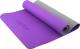 Коврик для йоги и фитнеса Starfit FM-201 TPE (173x61x0.5см, фиолетовый/серый) -