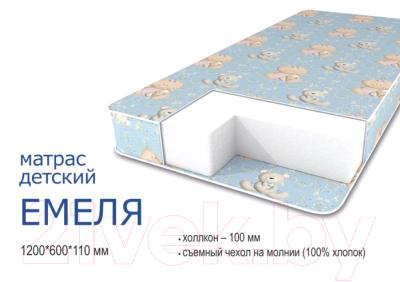 Матрас в кроватку Сонная сказка Емеля (бязь)