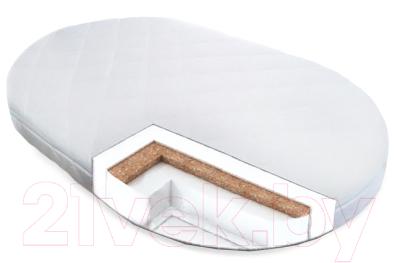 Матрас в кроватку Сонная сказка Садко овал 75x125 (трикотаж)