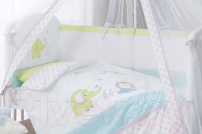 Комплект постельный в кроватку Perina Джунгли / ДЖ7-01.1