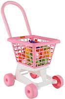 Тележка игрушечная Полесье Supermarket №1 с набором продуктов / 68477 (в сеточке) -