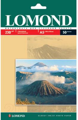 Фотобумага Lomond А5, 230 г/м, 50 л. / 0102070 (глянцевая)
