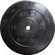 Диск для штанги MB Barbell d26мм 15кг (черный) -