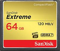 Карта памяти SanDisk Extreme CompactFlash 64GB (SDCFXSB-064G-G46) -