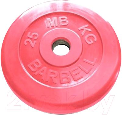 Диск для штанги MB Barbell Олимпийский d 51мм 25кг