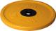 Диск для штанги MB Barbell Олимпийский d51мм 15кг (желтый) -