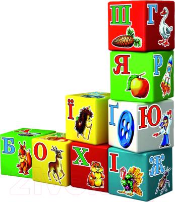 Развивающая игра ТехноК Кубики. Азбука Радуга / 1974