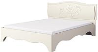 Двуспальная кровать Мебель-Неман Астория МН-218-01М (кремовый) -