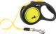 Поводок-рулетка Flexi Neon ремень (S, желтый светоотражающий) -