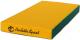 Гимнастический мат Perfetto Sport №1 1x0.5x0.1м (зеленый/желтый) -