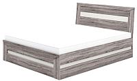 Двуспальная кровать Мебель-Неман Кристалл МН-131-01 (дуб сонома/трюфель) -