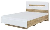Полуторная кровать Мебель-Неман Леонардо МН-026-10-140 (белый/дуб сонома) -