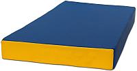 Гимнастический мат KMS sport №1 1x0.5x0.1м (синий/желтый) -