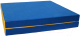 Гимнастический мат KMS sport Складной №8 1x2x0.1м (синий/желтый) -