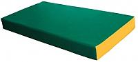 Гимнастический мат KMS sport №1 1x0.5x0.1м (зеленый/желтый) -
