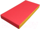 Гимнастический мат KMS sport №1 1x0.5x0.1м (красный/желтый) -