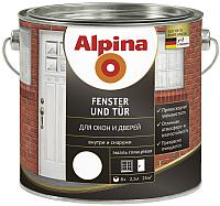 Эмаль Alpina Fenster und Tuer (2.5л, белый) -