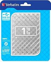 Внешний жесткий диск Verbatim Store 'n' Go 1TB / 53197 (серебристый) -