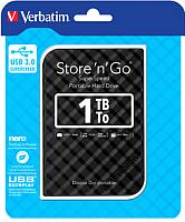 Внешний жесткий диск Verbatim Store 'n' Go 1TB / 53194 (черный) -