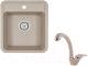 Мойка кухонная Granula GR-4202 + смеситель 40-03 (антик) -