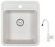 Мойка кухонная Granula GR-4202 + смеситель 35-05 (белый/арктик) -