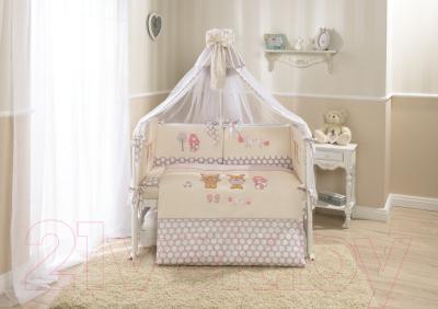 Комплект постельный в кроватку Perina Венеция / В7-02.2 (лапушки бежевый) - Фото в интерьере