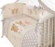 Комплект постельный в кроватку Perina Венеция В7-02.2 (лапушки бежевый) -
