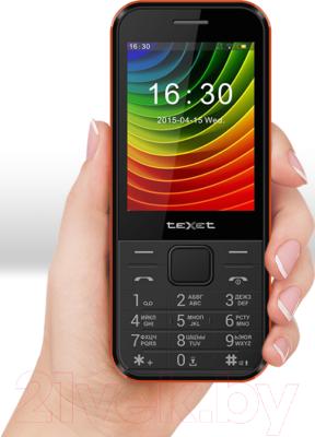 Мобильный телефон Texet TM-302 (черный/красный)