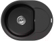 Мойка кухонная Elleci Easy Round 600 Full Black G40 / LGYR6040 -