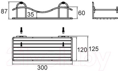 Полка для ванной Milardo 304W000M44