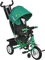 Детский велосипед с ручкой Mini Trike 950D (зеленый) -