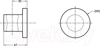 Душевой держатель Jacob Delafon Modulo 8466D-CP