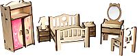 Комплект аксессуаров для кукольного домика Woody Набор мебели. Спальня / 02178 -