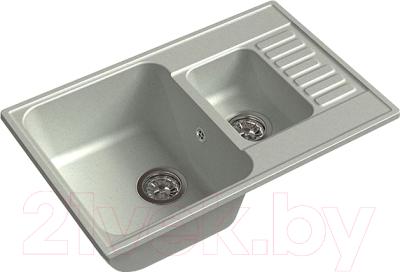 Мойка кухонная GranFest Quarz GF-Z21K (серый)