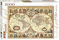 Пазл Step Puzzle Историческая карта мира / 84003 (2000эл) -