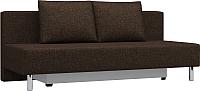 Диван Woodcraft Парма (коричневая рогожка) -