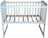 Детская кроватка Массив Беби 1 разборная (белый) -