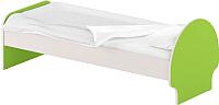 Односпальная кровать Славянская столица ДУ-КО12-3 (белый/зеленый) -