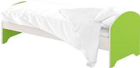 Односпальная кровать Славянская столица ДУ-КО14-12 (белый/зеленый) -