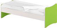 Односпальная кровать Славянская столица ДУ-КО12-13 (белый/зеленый) -