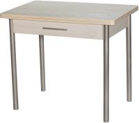 Обеденный стол Древпром М20 90х60 с ящиком (металл/самерсет) -