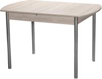Обеденный стол Древпром М3 120x78 (металлик/самерсет) -