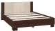 Двуспальная кровать Империал Аврора 160 с основанием (венге/дуб молочный) -