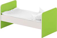 Односпальная кровать Славянская столица ДУ-КО12 (белый/зеленый) -